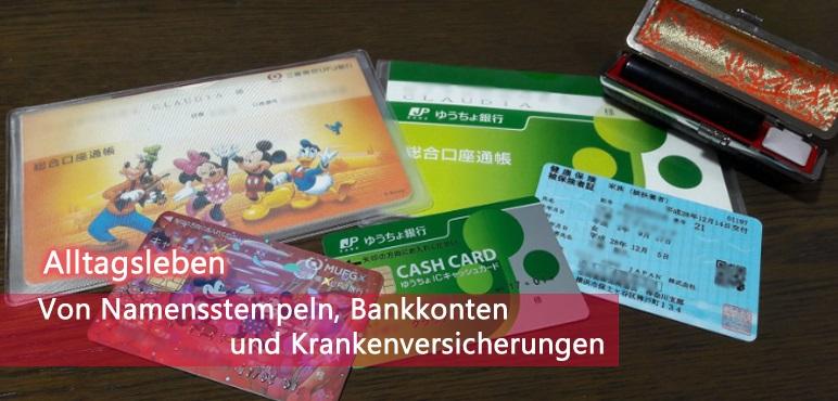 Bankkonto und Hanko