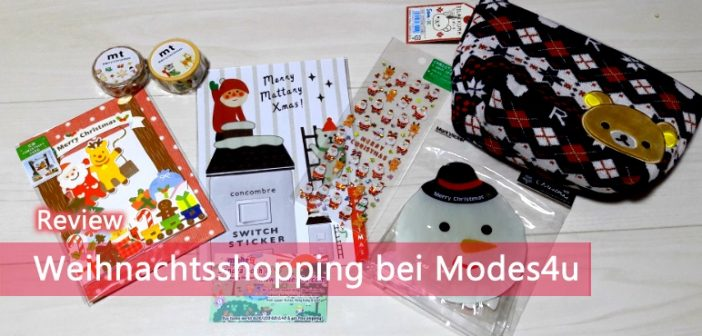 [Review] Weihnachtsshopping bei Modes4u