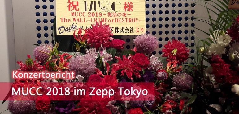 [Konzert] MUCC 2018 im Zepp Tokyo