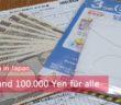 Masken und 100.000 Yen