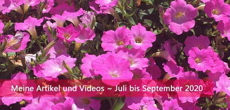 Meine Artikel und Videos ~ Juli bis September 2020